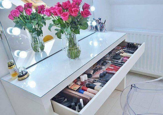چگونه میز آرایش مرتبی داشته باشیم