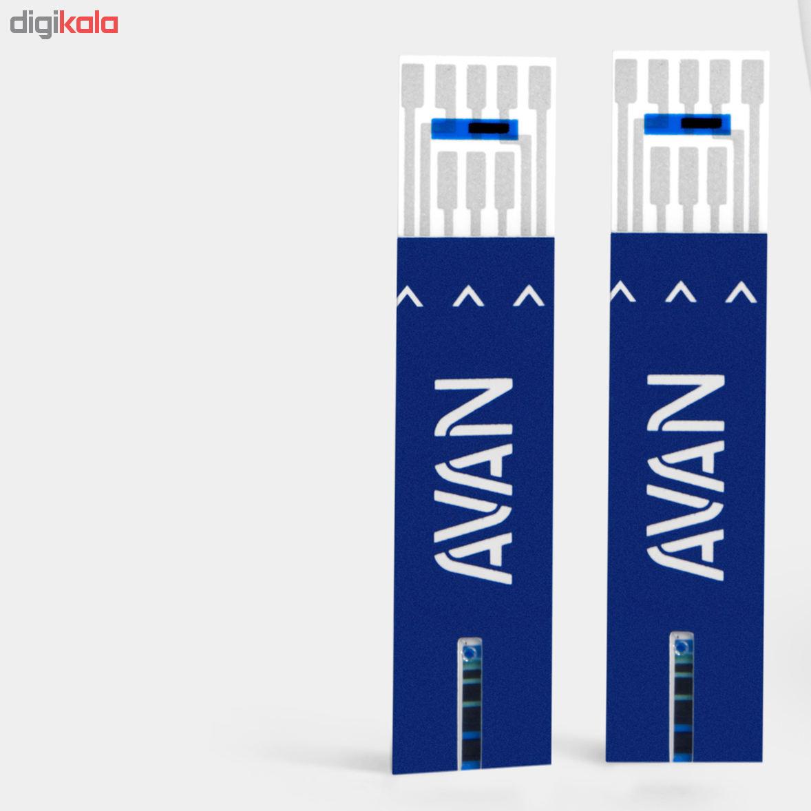 نوار تست قند خون آوان با دقت بالا مدل AGS01 بسته 50 عددی