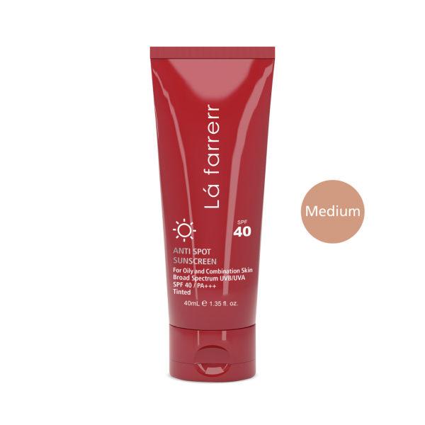 کرم ضد آفتاب و ضد لک رنگی لافارر برای پوست چرب