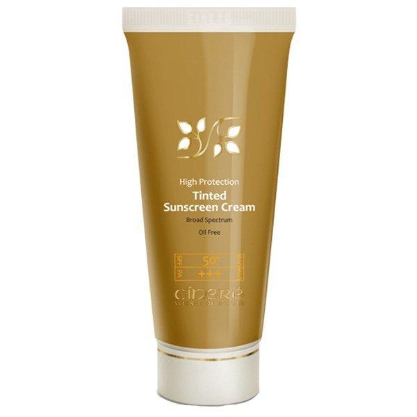 کرم ضد آفتاب رنگی سینره SPF50 مناسب انواع پوست شماره 1